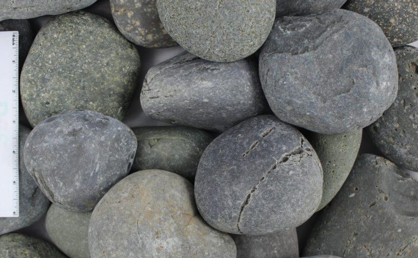 "Black Mexican Beach Pebble 3""-5"""