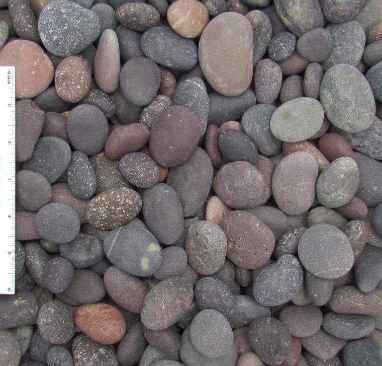 "Red Beach Pebble .5 1 - Red Beach Pebbles 1/2""-1"""