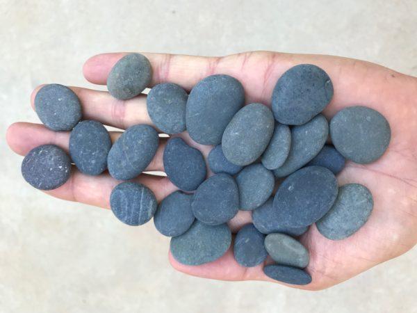 Black Buttons  - Black Beach Pebble Buttons