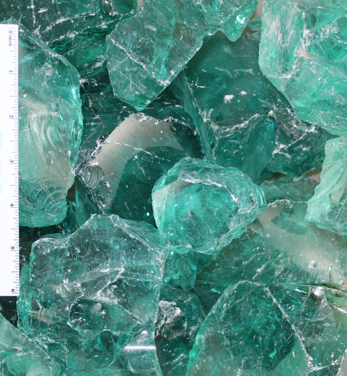 Blue Ice Landscape Glass 4″-6″