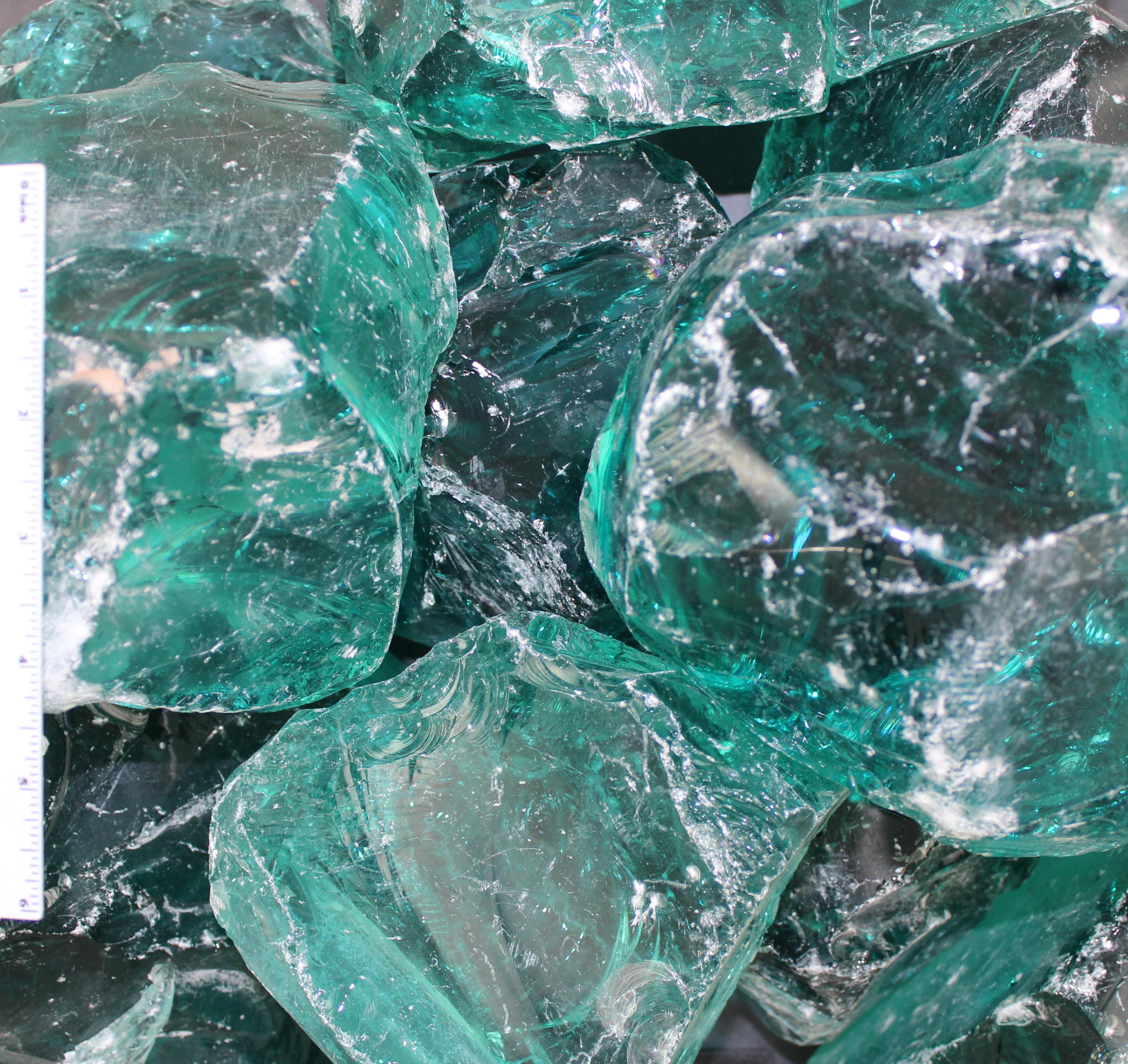 Blue Ice Landscape Glass 6″-8″