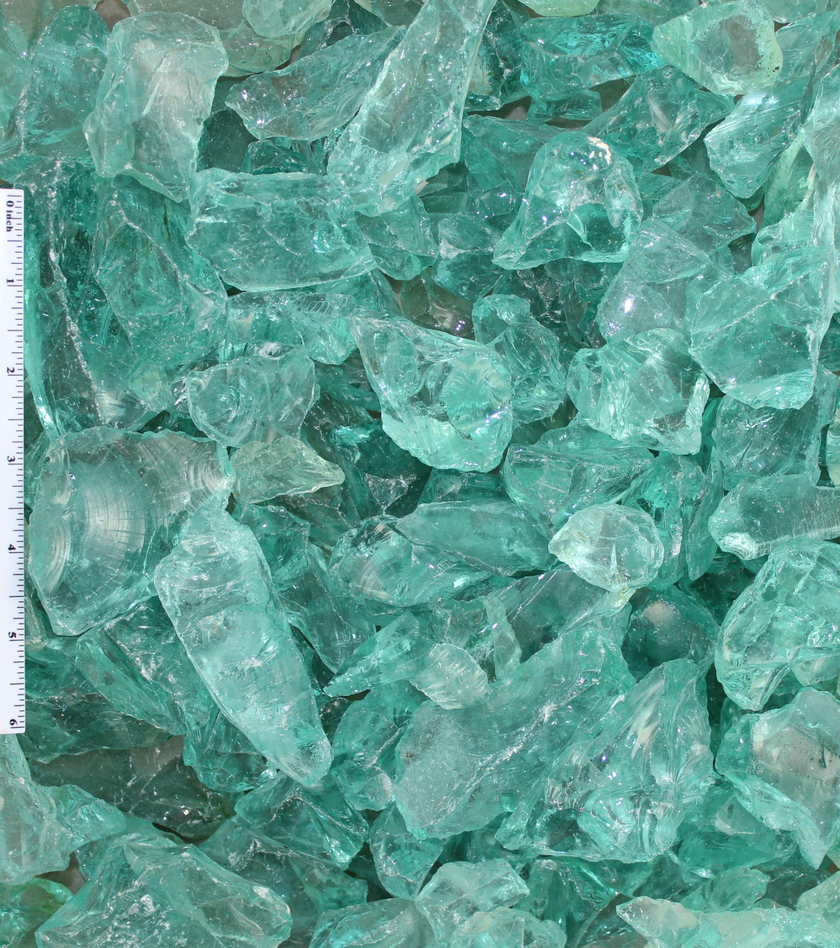 Blue Ice Landscape Glass 1″-2″