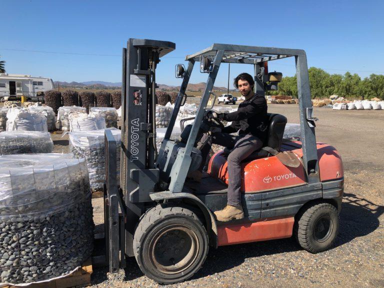 J Ramirez at Wholesale Stone Solutions yard in Menifee