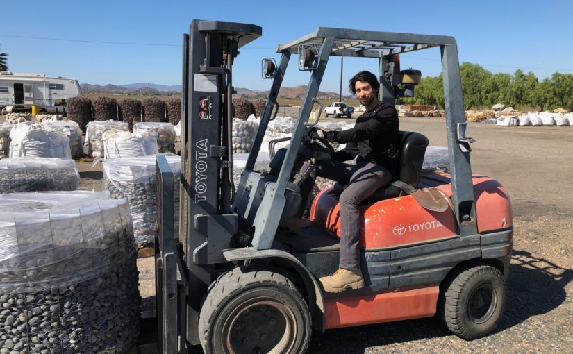 J Ramirez at Wholesale Stone Solutions yard in Menifee