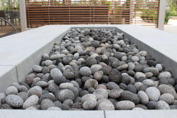 """Black Lava Pebble Fire Pit 3 e1580340482567 - Black Lava Pebble 1""""-2"""""""