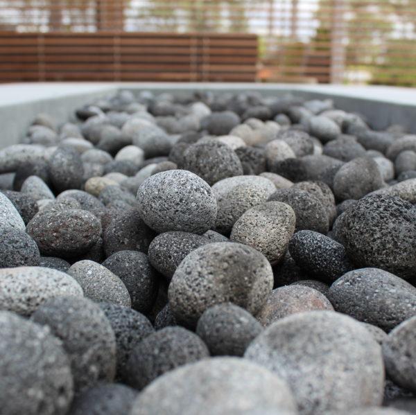 "Black Lava Pebble Fire Pit 4 e1580260900792 - Black Lava Pebble 1/2""-1"" *Special Order Size*"