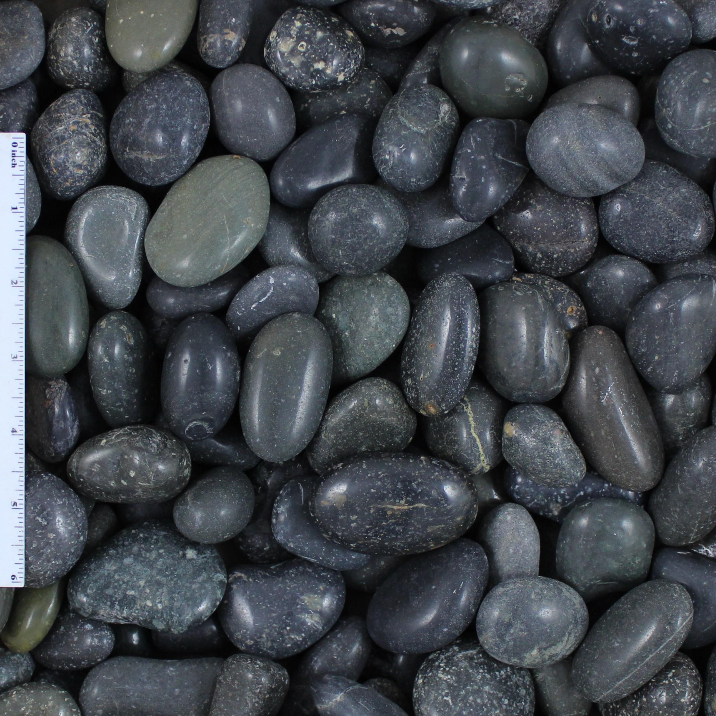 Polished Black Mexican Beach Pebbles