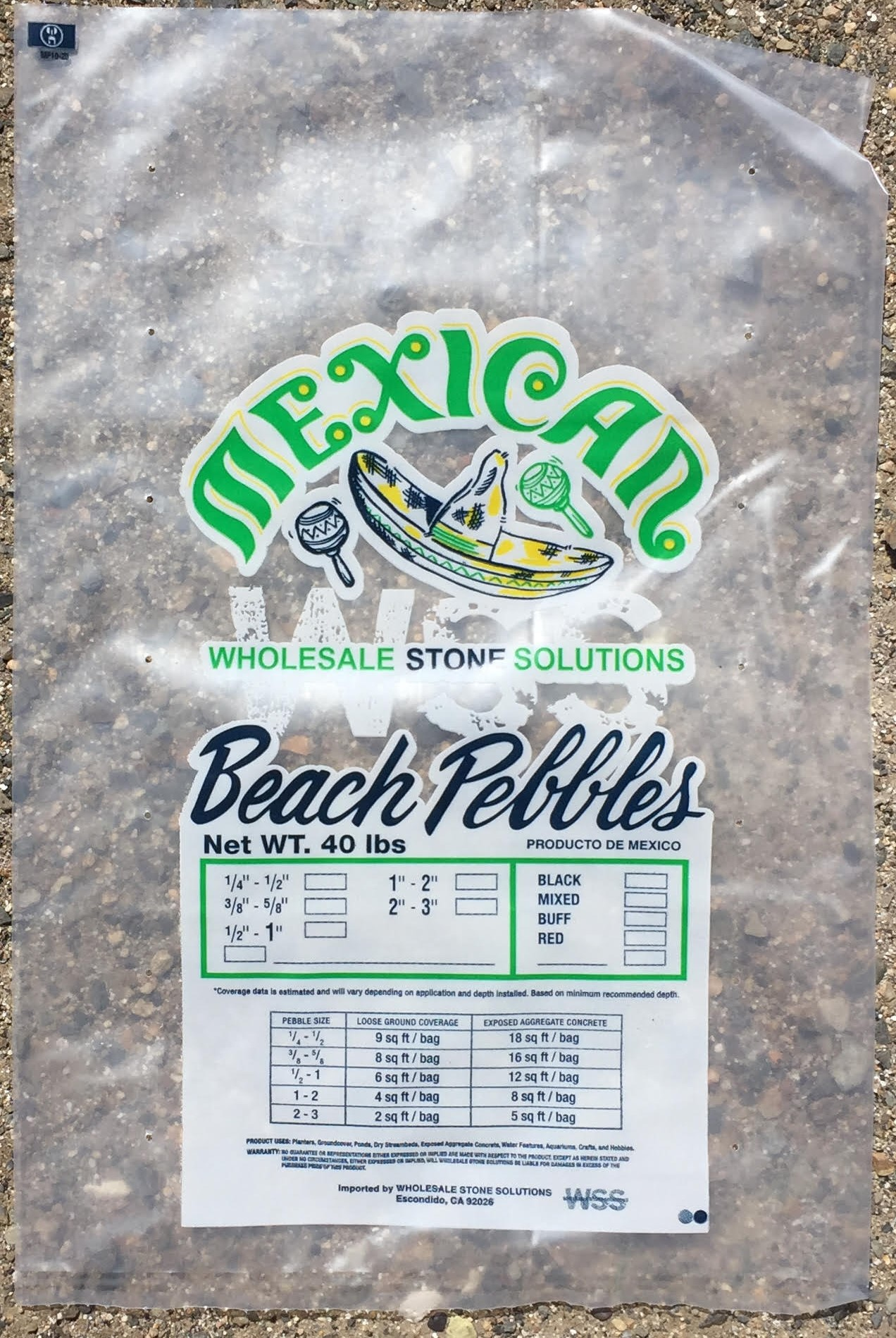 Did you know WSS now offers private labeled bags for our Mexican Beach Pebble products!!