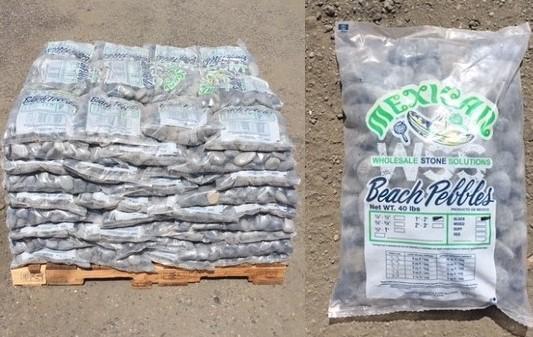 "40 lb Bag Beach Pebble Pallet Split - Black Lava Pebble 1""-2"""